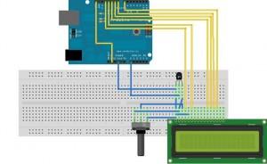 Schemat podłączenia modułu LCD
