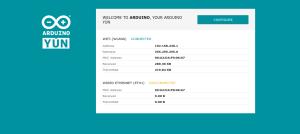 Arduino YUN - po pierwszym zalogowaniu