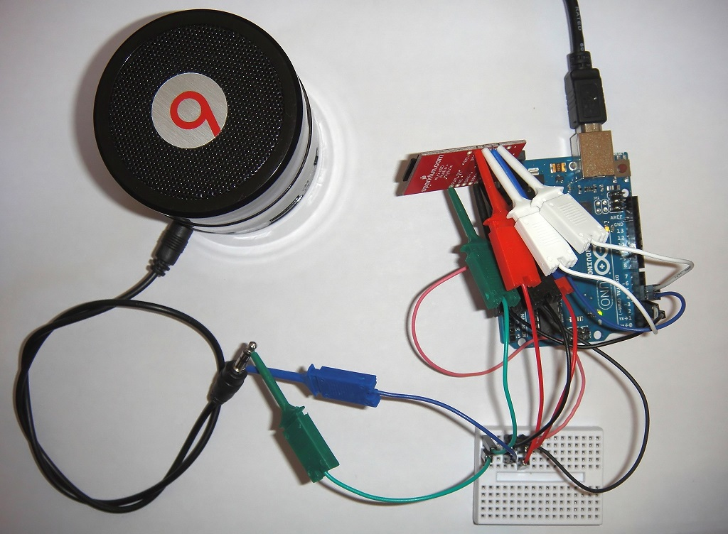 WTV020-SD połączone z Arduino