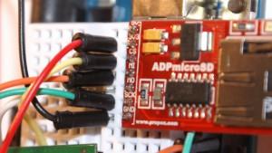 Karta microSD podłączona do Arduino