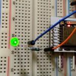 Dynamiczne ujęcie świecącej diody