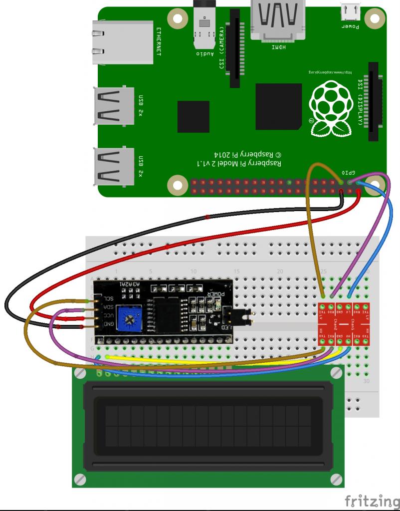 Podłączenie LCD do RPi