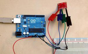 TMP006 podłączony do Arduino