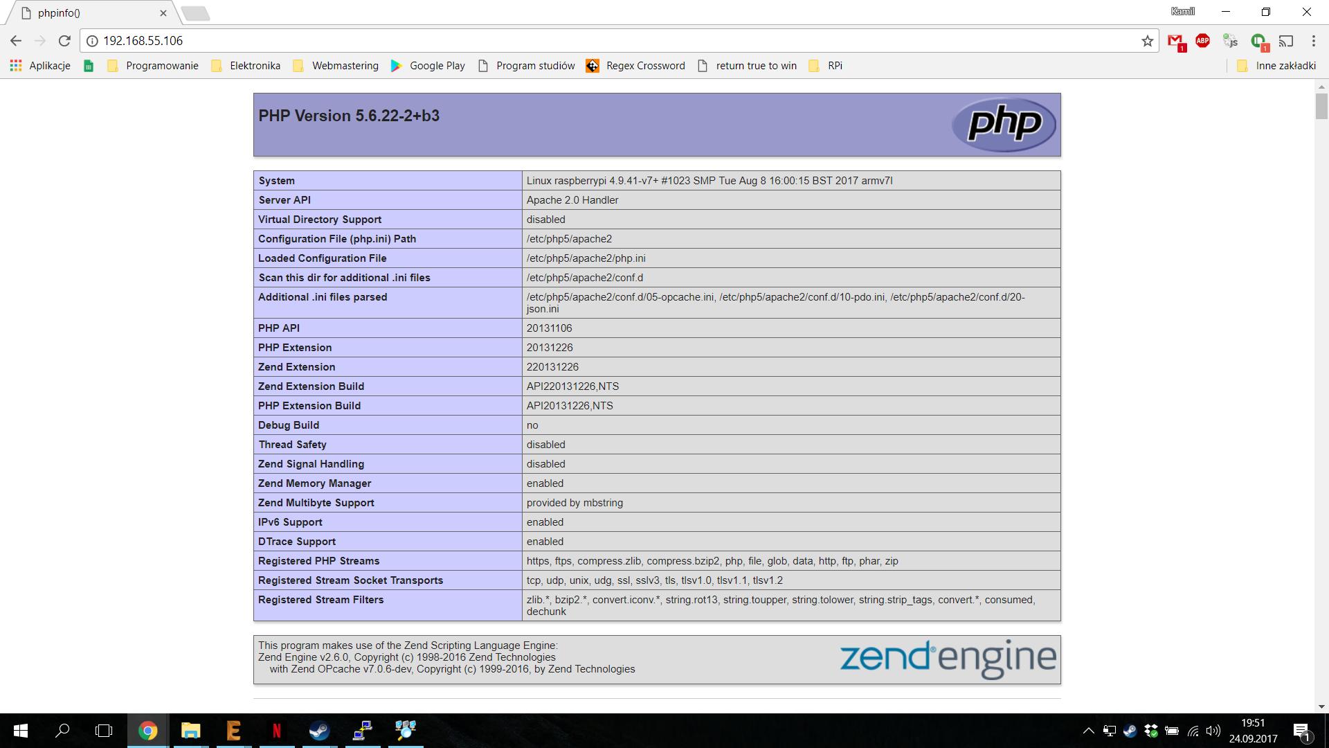 Raspberry Pi Instalacja Serwera Www Apache Starter Kit Wiringpi Html Jeeli Mamy Zainstalowany Program Sudo Apt Get Install Moemy Z Poziomu Php Wykonywa Operacje Na Gpio Np Odczyta Stan Konkretnego